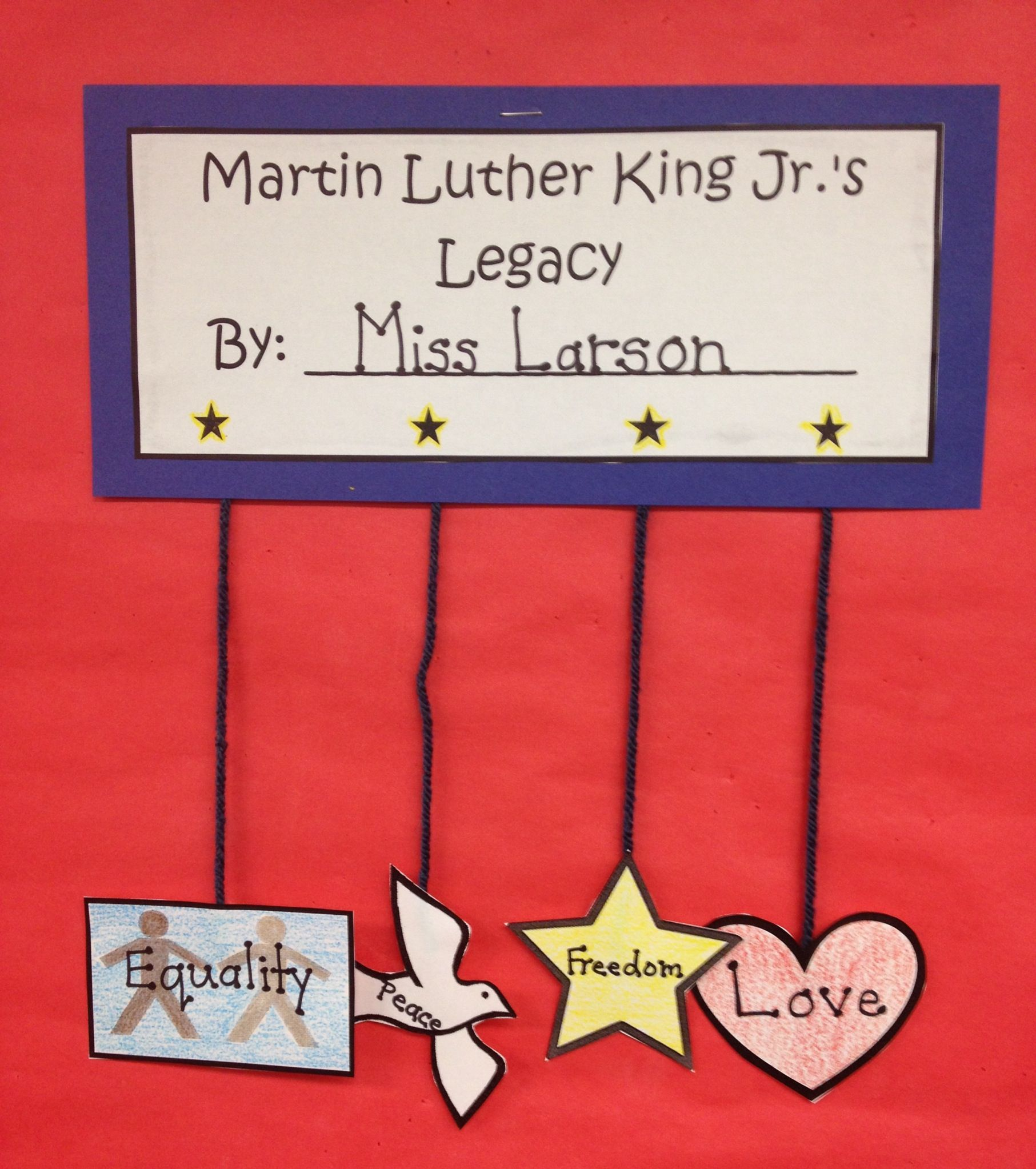Martin Luther King Jr Literacy Set For 4th
