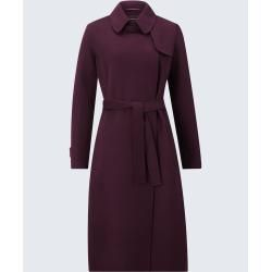 Photo of Cappotto doppio con cashmere in windsor bordeaux