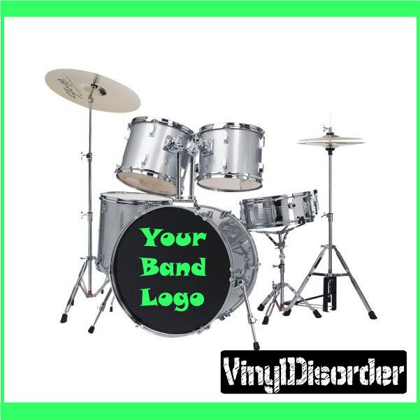 Create Your Own Custom Drum Head Vinyl Decals Decals Custom Drum - Create your own custom vinyl decals