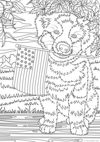 Kleurplaten Dieren Volwassenen Holiday Freebie National Dog Day Detailed Coloring