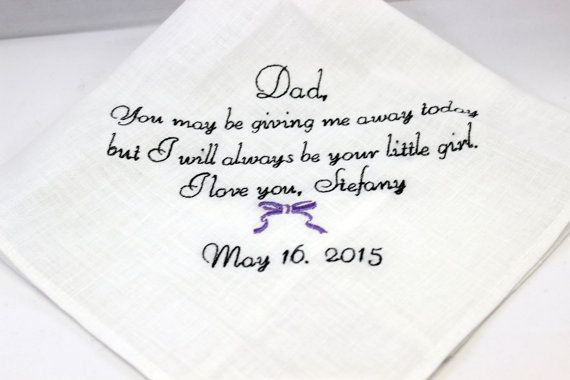 Father Of The Bride Handkerchief Hankie Hanky You May Be Giving Me Away Today Gift For Fa Bride Handkerchiefs Father Of The Bride Wedding Gifts For Bride