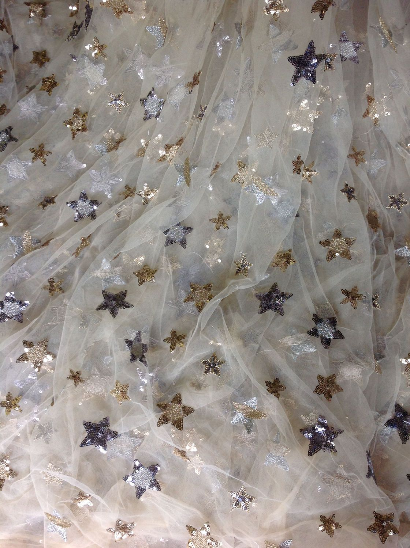Zoewedding Luxurious leopard design sequin mesh fabric