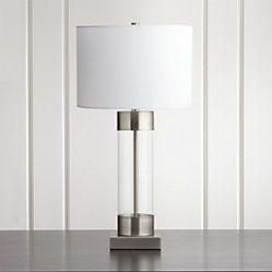 Stanza Nickel Table Lamp Still Bedroom Brass Table