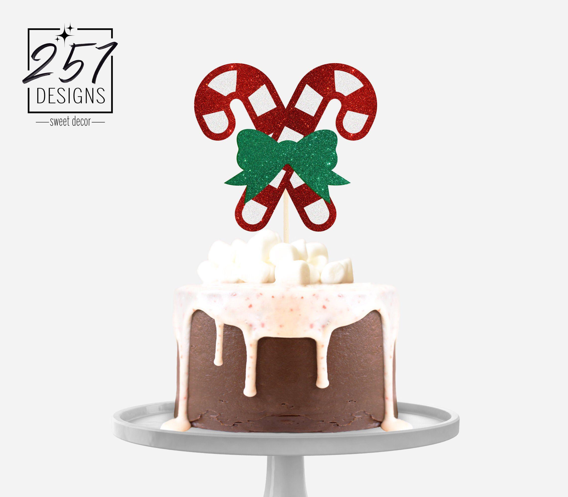 Christmas Cake Topper Merry Christmas Cake Topper Holiday Cake Topper
