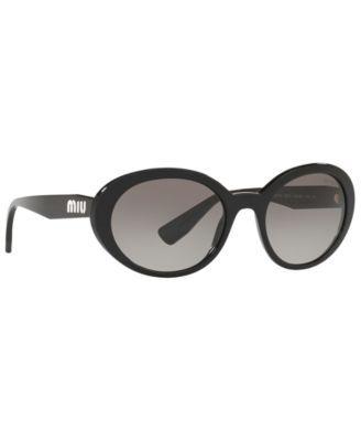 0a6fefe06 Miu Miu Sunglasses, Mu 01US 53 - Black Sunglasses Accessories, Cat Eye  Sunglasses,