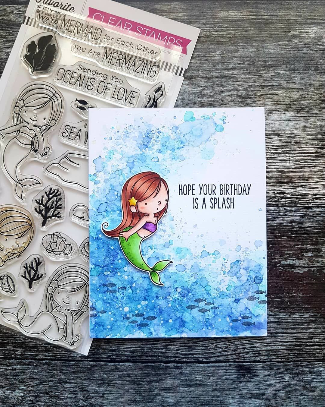 Fish Underwater Sea life See Ya Soon Mermaid Handmade Greeting Card Ocean Unique Personalized Gift for Any Occasion Seahorse Beachy