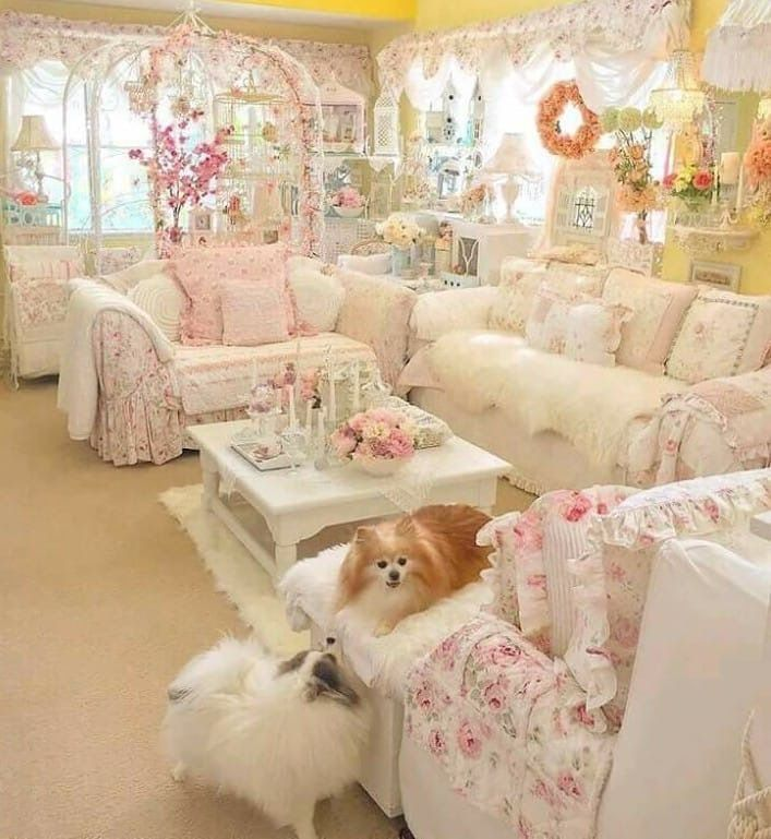 30+ Awesome Shabby Chic Living Rooms Decor Ideas images