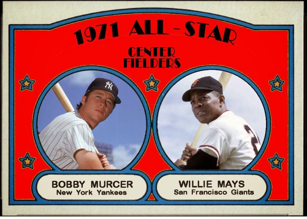 1972 topps all star cards the outfield with images