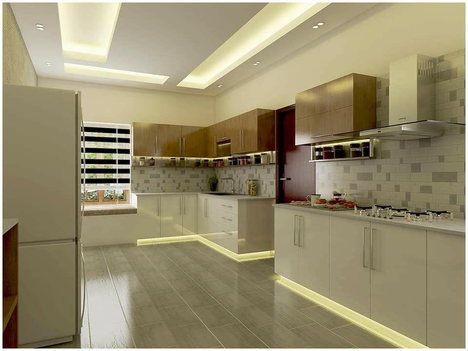 Proposed Kitchen Interior Estimated Price 4 5 Lakhs Material Premium Acrylic Mica Laminate Interior Design Kitchen Modern Kitchen Design Kitchen Interior