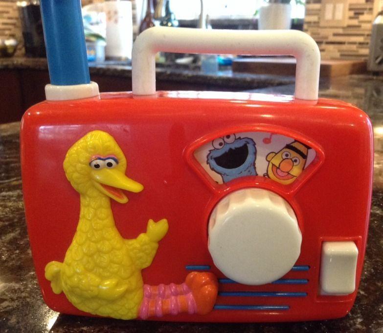 Sesame Street Musical Toys : Vintage sesame street big bird wind up music box radio
