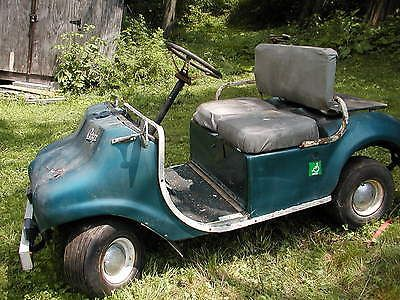 pargo golf cart late 1960's one of a kind estate find    vintage electric