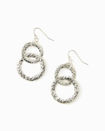 Interlocking hammered hoops $10.00 style: 308989 Two interlocking hammered hoops for a cool touch of shine. Hook clasp for pierced ears.