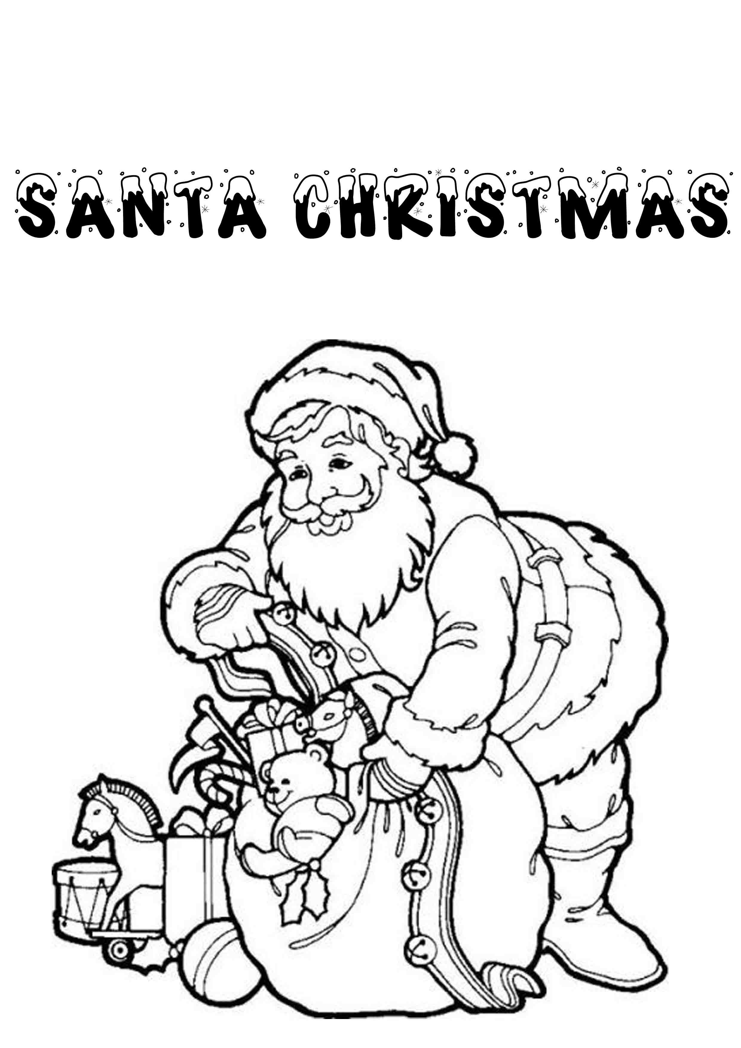New Father Christmas Colouring Pages #coloring # ...