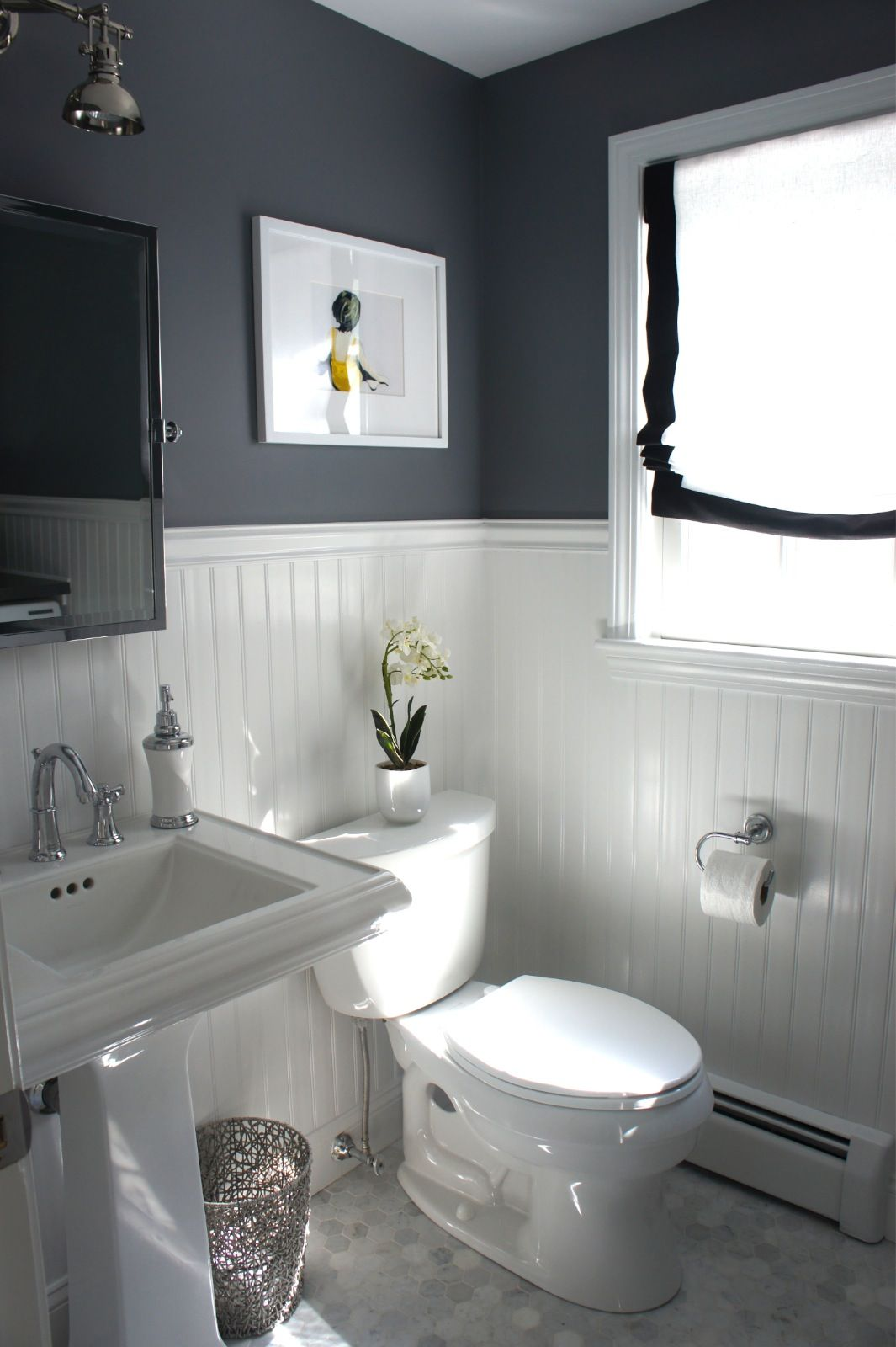 Before And After Updating A Half Bath And Laundry Bathroom