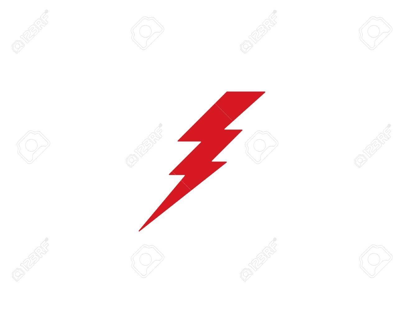 Lightning Logo Template Vector Icon Illustration Design Aff