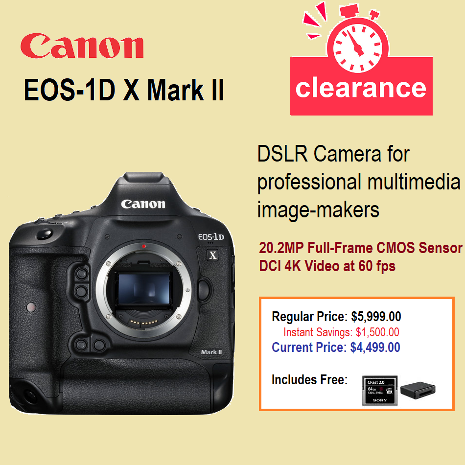 Save 1500 On Canon Eos 1d X Mark Ii Offer From B H Dslr Camera For Professional Multimedia Image Makers The Eos 1dx Ma In 2020 Cmos Sensor Digital Camera Top Camera