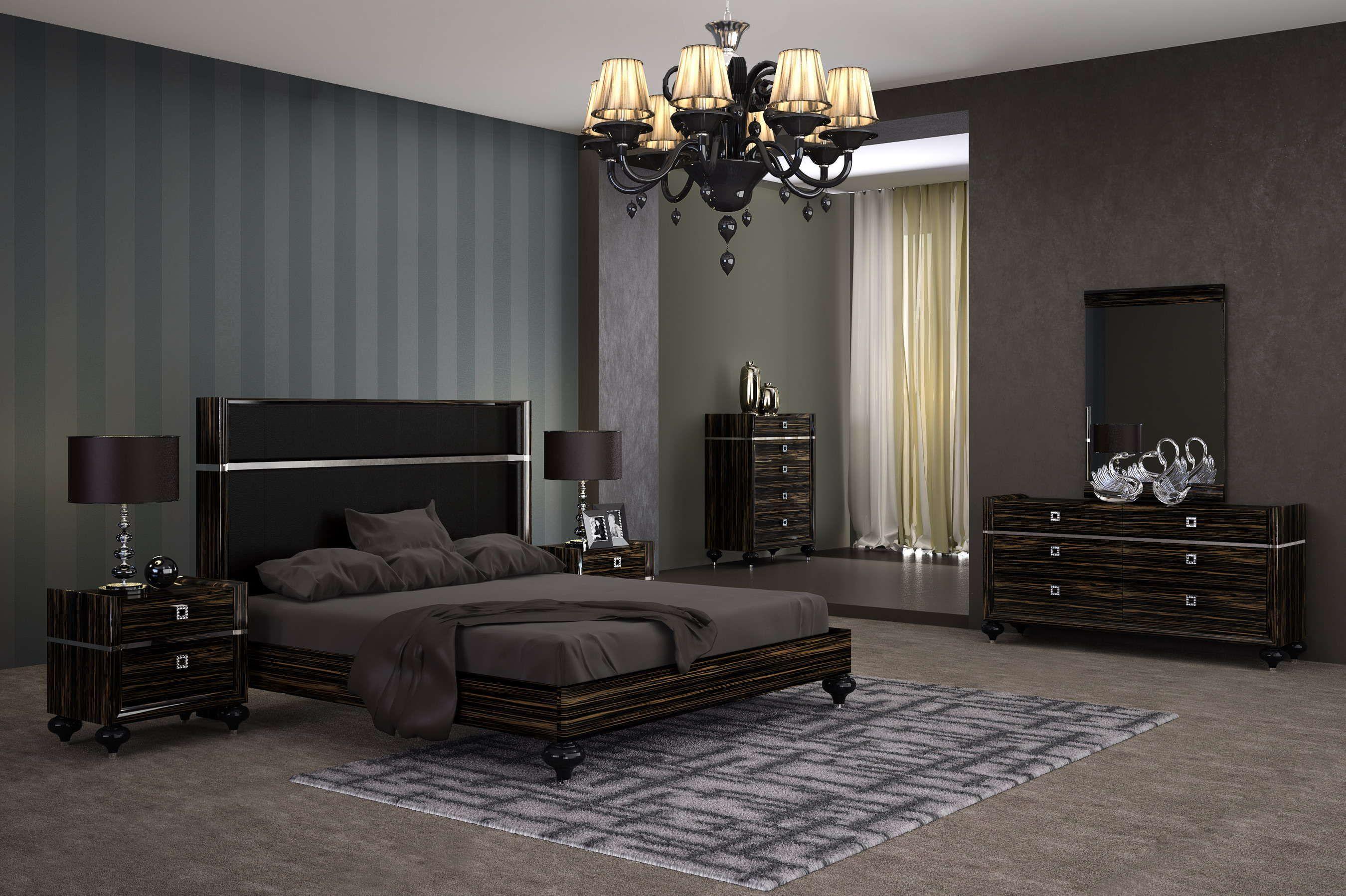 Tivoli Bedroom Collection Made in Italy Grey Oak Eco Veneer Matte