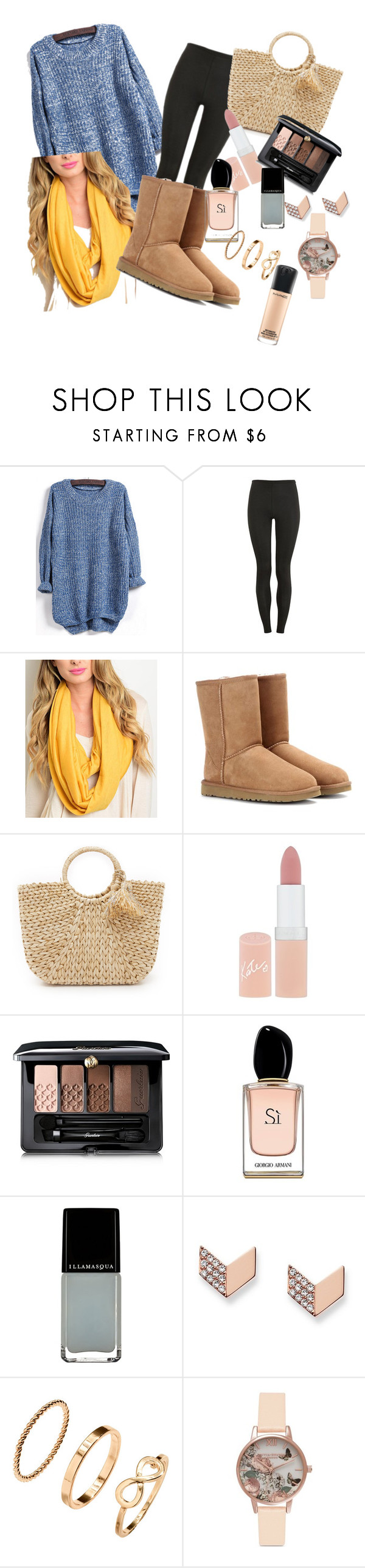 """""""Autumn"""" by ameliapeach30 ❤ liked on Polyvore featuring Proskins, Forever Lily, UGG Australia, Hat Attack, Rimmel, Guerlain, Armani Beauty, Illamasqua, FOSSIL and H&M"""
