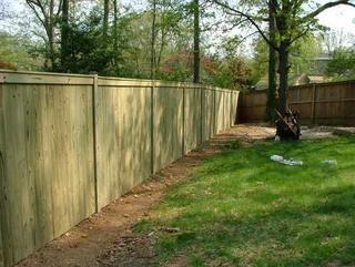 2 Pressure Treated Pine Flatboard Fence 1x4 W Top Face Board No Caps Fence Outdoor Structures Outdoor