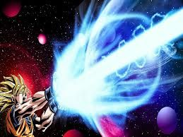 Golgi body: Packages up proteins and   then distributes the proteins- Goku powers up his  kamehameha and then releases it .Like how the golgi body stores up proteins and then distributes it