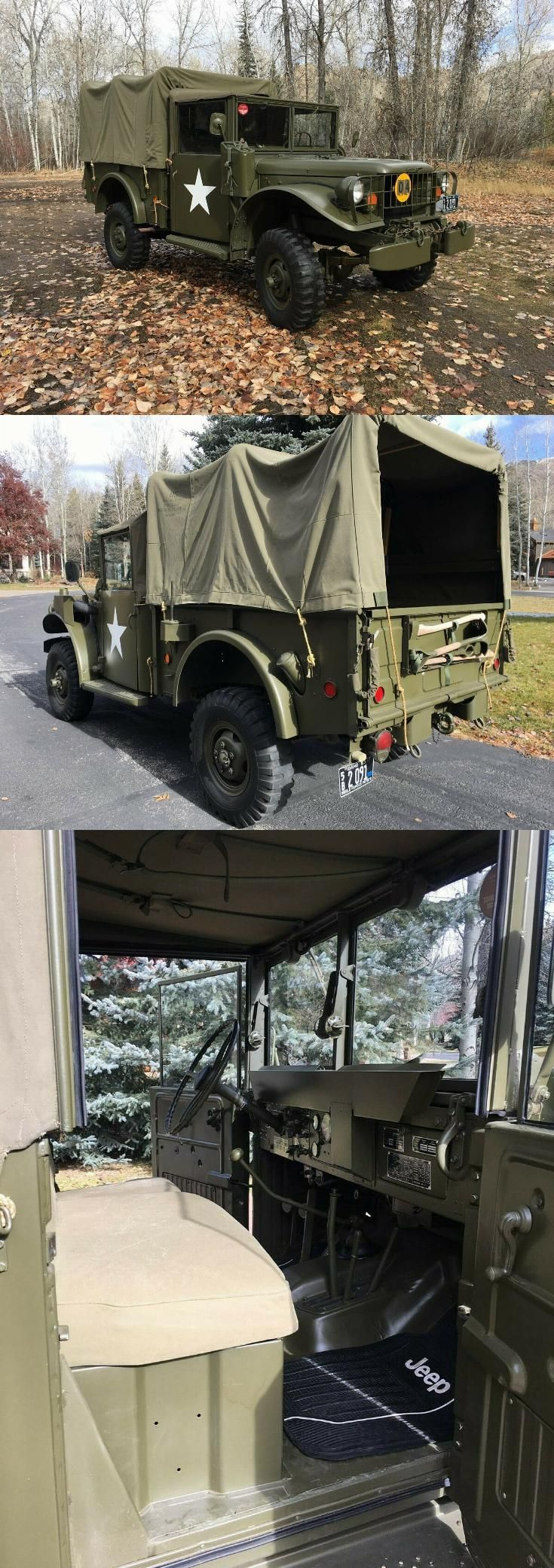 Fully restored 1953 dodge m 37 military military
