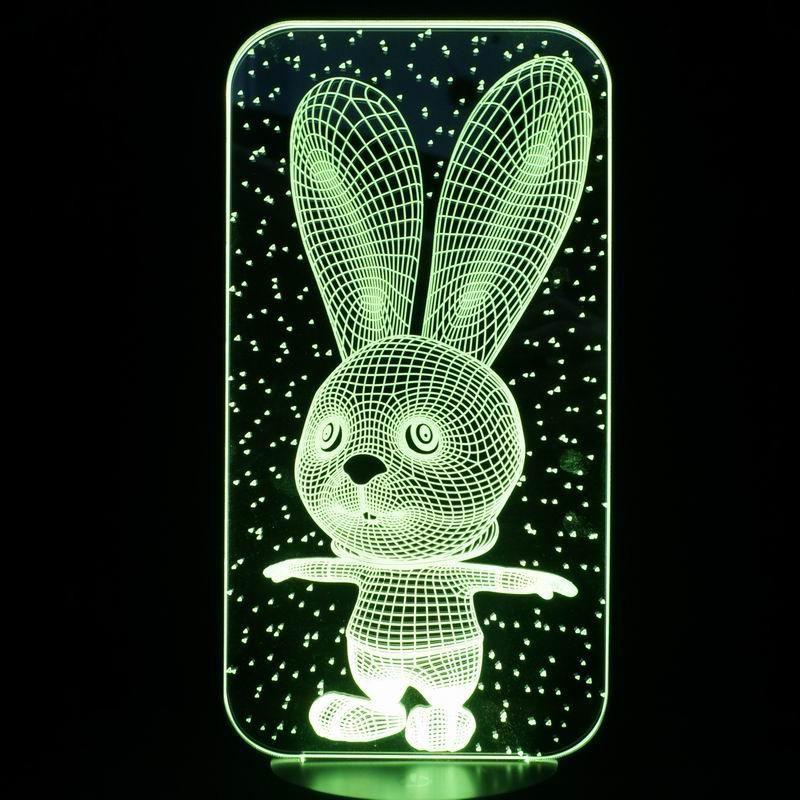 Long Ear Rabbits 3d Led Lamp 3d Led Lamp Led Lamp Led Diy