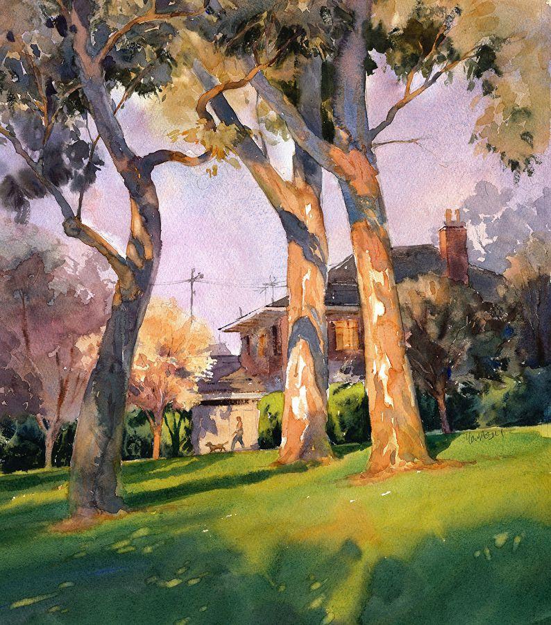 Spring Evening, Balwyn II by Mike Kowalski ~ 16 x 14