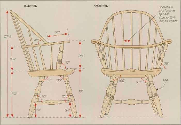Anatomy Of A Sackback Windsor Chair Classic American Furniture In 2020 Windsor Chair Chair Chair Woodworking Plans