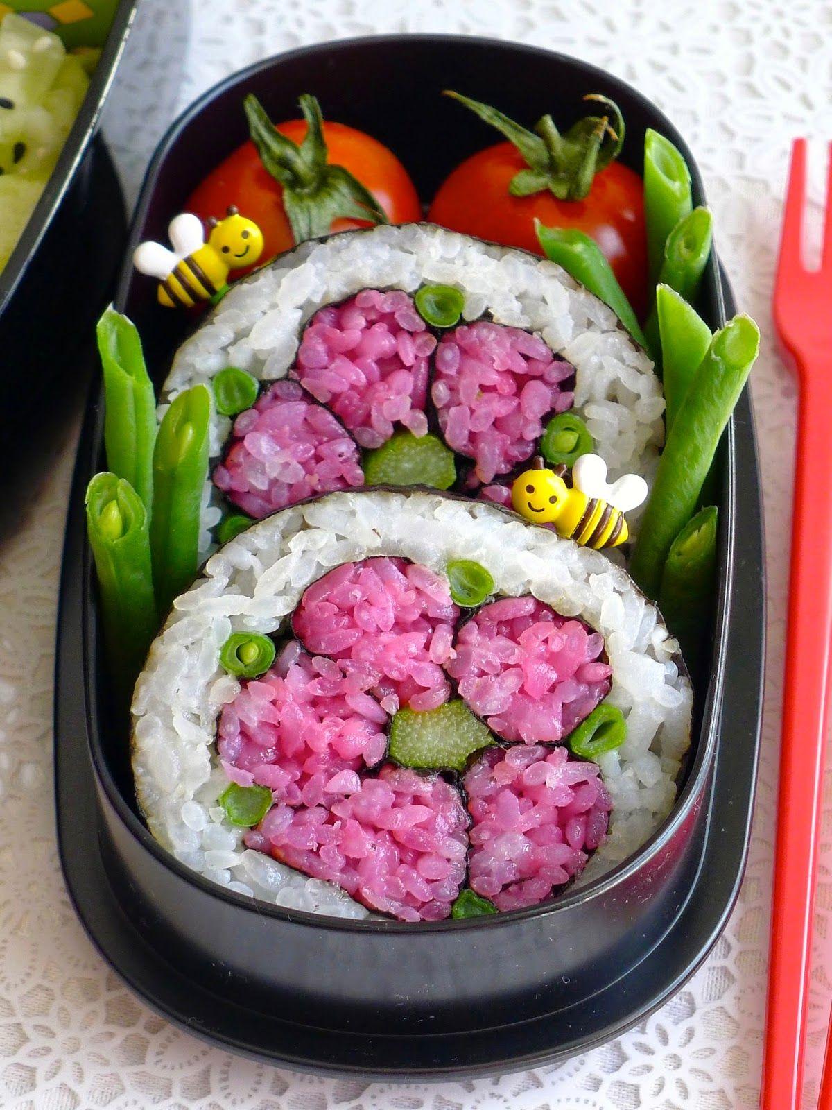 recettes pour mon bent sushi art rolls tuto fleurs bento pinterest sushi riz de. Black Bedroom Furniture Sets. Home Design Ideas