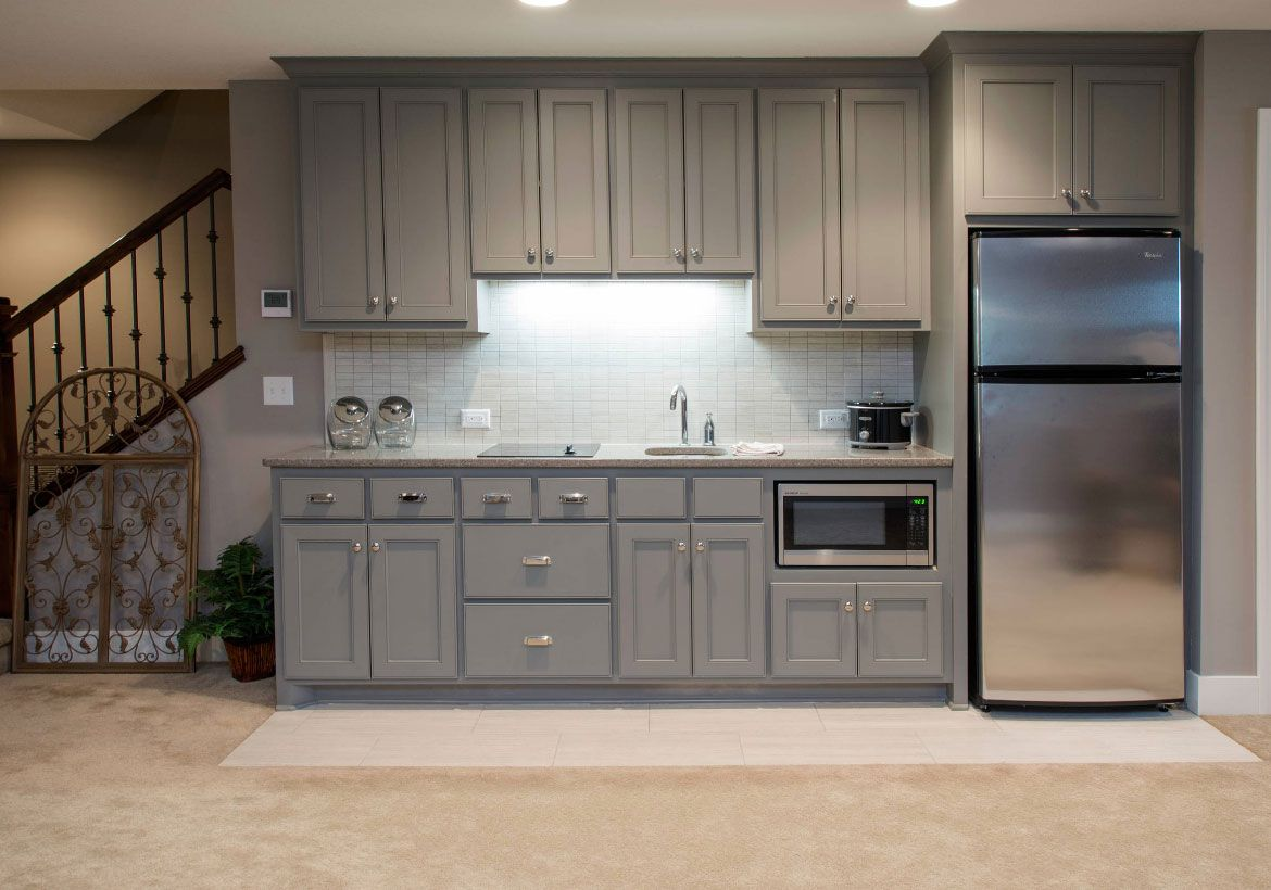 Awesome Kitchen Basement Ideas Part - 9: 45 Basement Kitchenette Ideas To Help You Entertain In Style