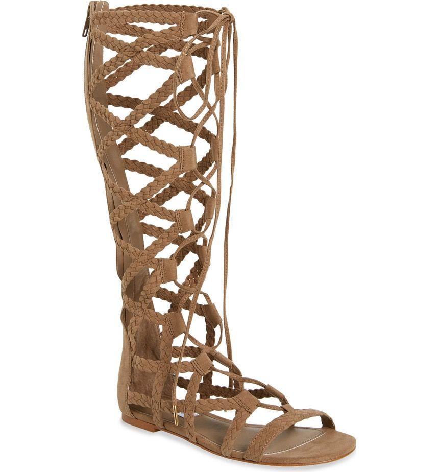 912ea664d82447 Main Image - Steve Madden  Sammson  Lace-Up Gladiator Sandal (Women ...