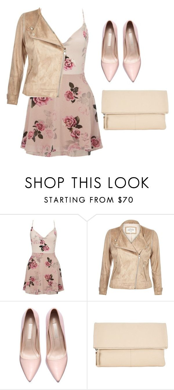 """""""Affordable girly chic"""" by shelbyspadeglamour ❤ liked on Polyvore featuring Lipsy, River Island and Kin by John Lewis"""