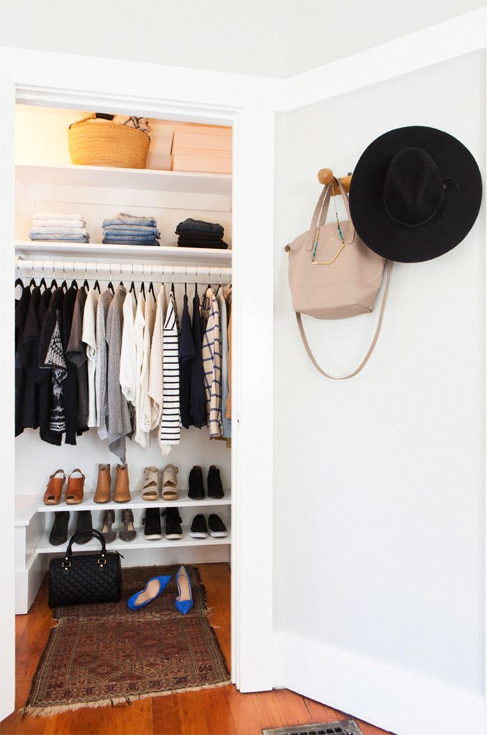 Merveilleux How To Actually Fit All Your Clothes In A Tiny Closet. Small ClosetsTiny  ClosetOrganized ...
