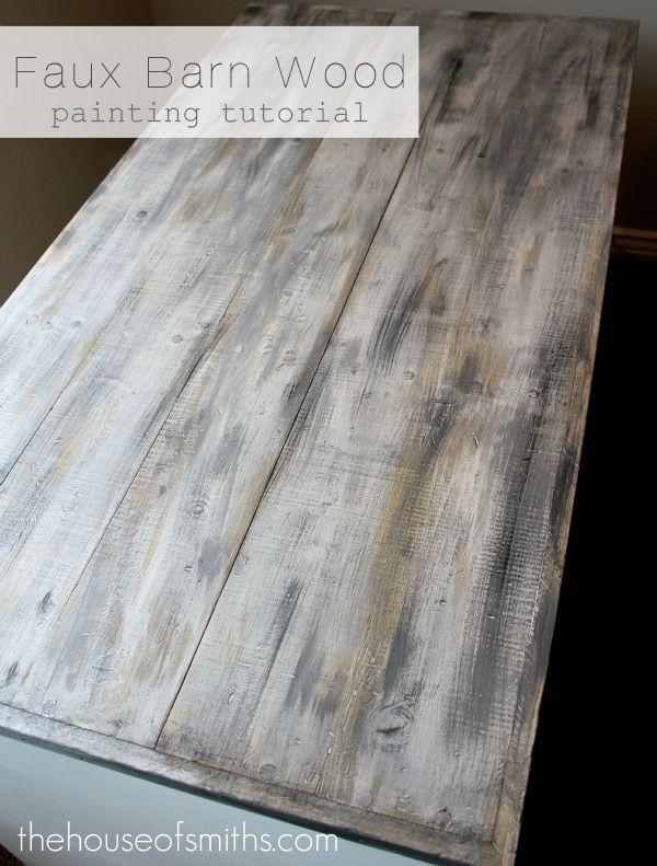 Faux Barn Wood Painting Tutorial Diy Furniture Home Diy Barn Wood