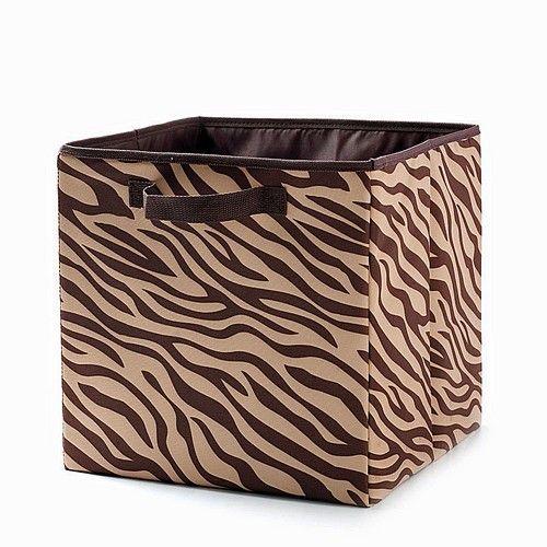 Attirant Zebra Storage Cube