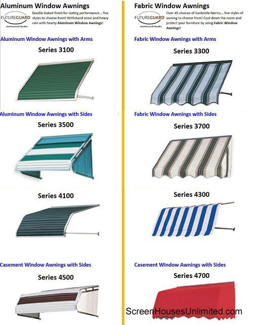SreenHousesUnlimited awning options | Home Improvement Ideas | Pinterest