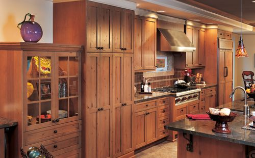 Best Distressed Rustic Alder Cabinets Lend A Rustic Flair To A 400 x 300