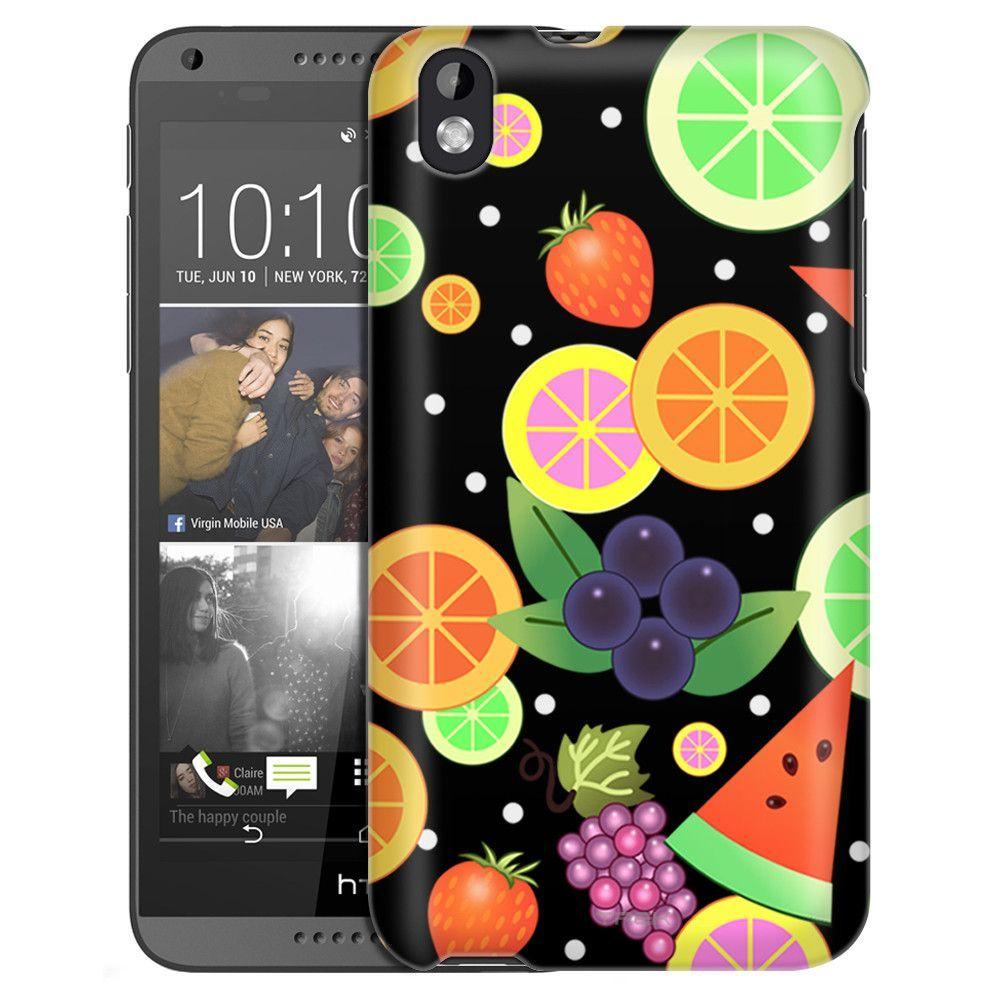 HTC Desire 816 Colorful Fruits on Black Slim Case