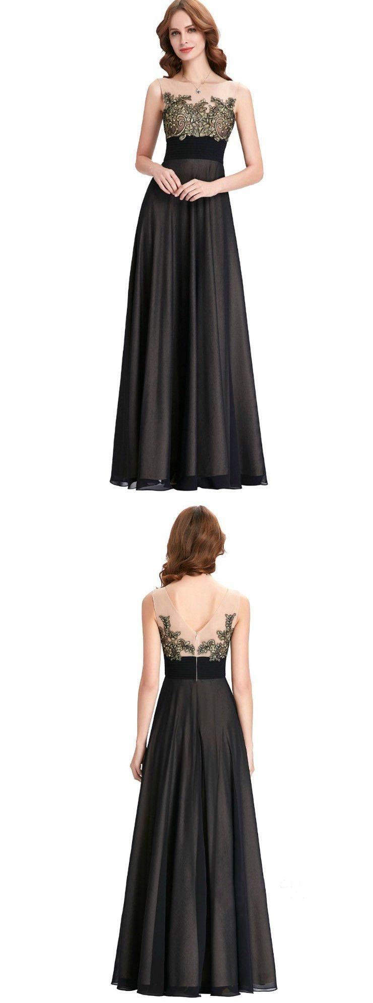 Aline bateau floorlength chiffon vintage prom dresses hx