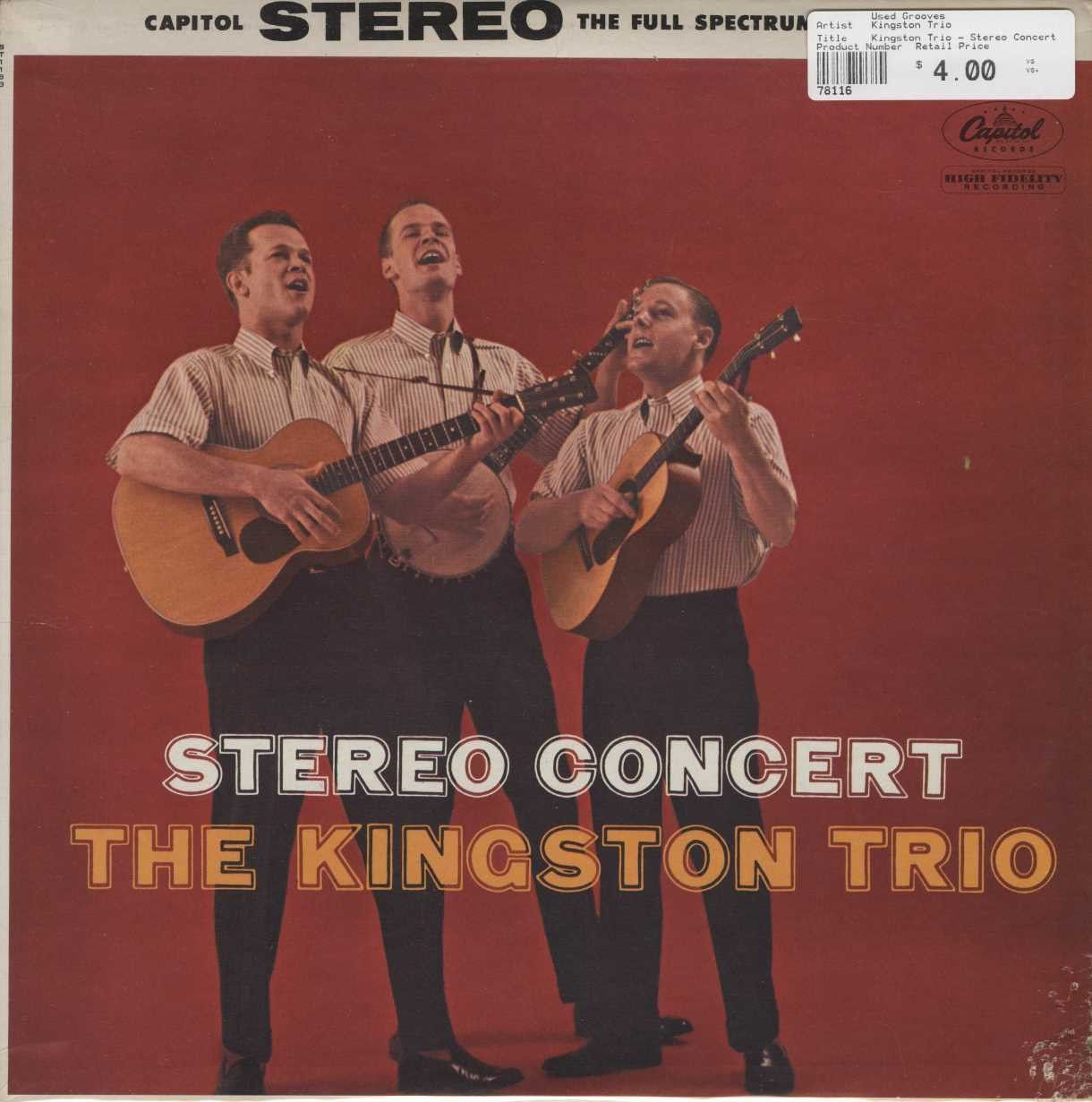 Kingston Trio Stereo Concert With Images The Kingston Trio American Folk Music Folk Music