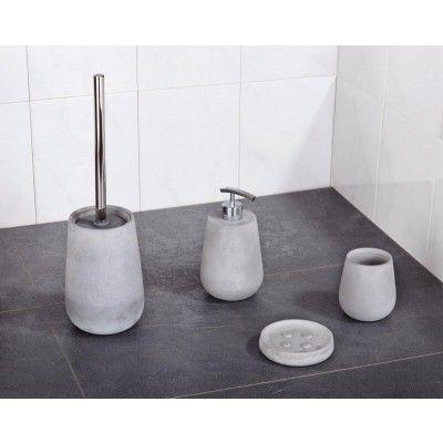 4 Teilige Bad Accessoires Serie Aus Beton Mit Wasserabweisender Beschichtung Badezimmer Accessoires Bad Accessoires Set Badezimmer