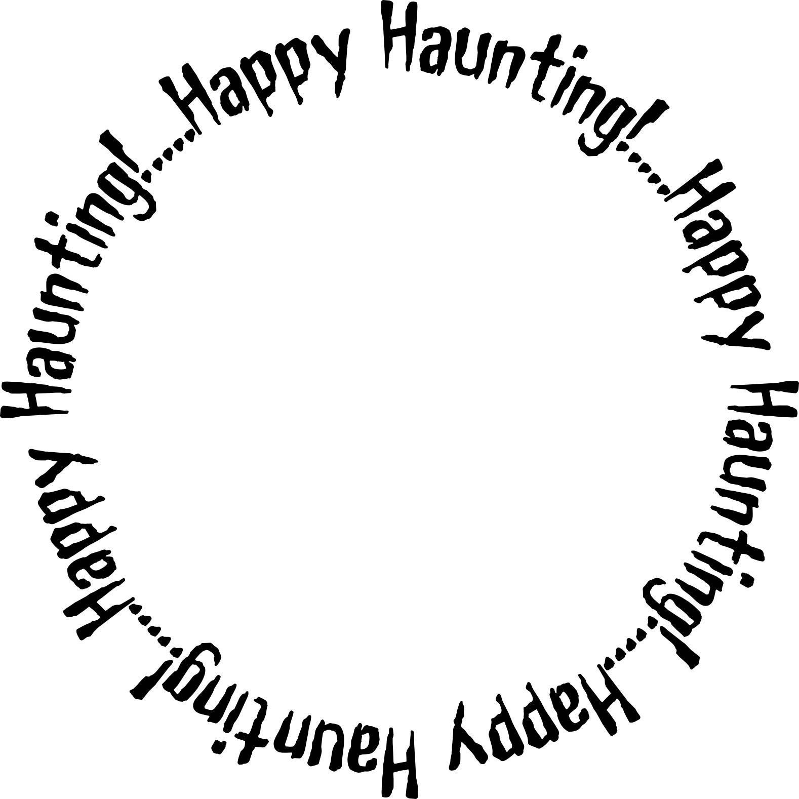 Happy Haunting and Boo to You Frames for Halloween Cards and other ...