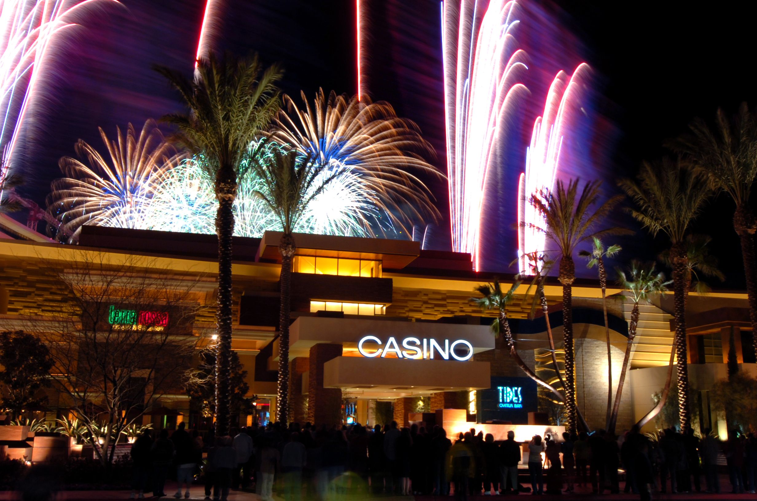 New Year's Eve fireworks at Red Rock Hotel in Vegas Las
