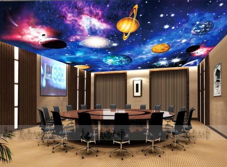 Space Planet Wallpaper Wallpaper Cosmic Star Ceiling