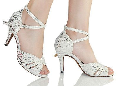 7f2686534 New women #white #leopard print latin ballroom salsa bachata #dance shoes  all siz