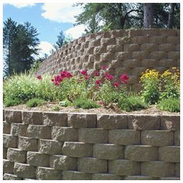 Shop Outdoors At Lowes Com In 2020 Retaining Wall Outdoor Backyard Concrete Retaining Walls