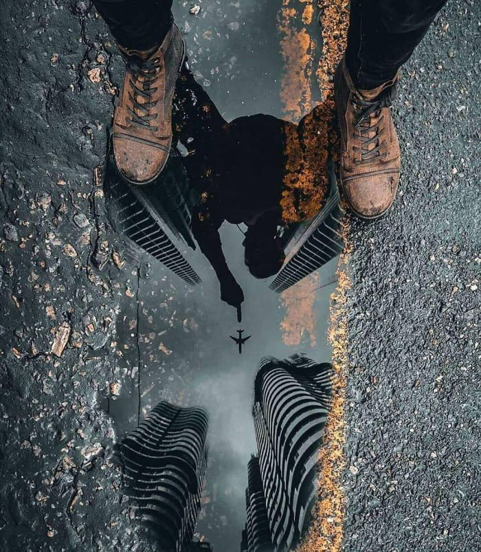 The reflection in this puddle - 9GAG