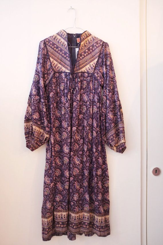 817a302a2371 Vintage indian cotton hippie Phool dress S | dd | Dresses, Vintage ...