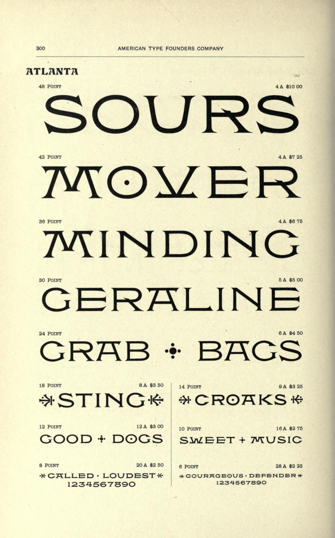 Specimens Of Printing Types  Letters  Lettering