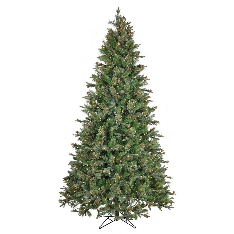SYLVANIA 7.5-ft Mixed Pine Pre-Lit Artificial Christmas Tree ...